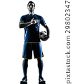 soccer player man silhouette isolated  29802347