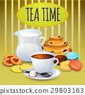 Illustration collection tea with milk pot  29803163