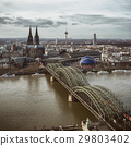 View of the Cologne Cathedral and Hohenzollern 29803402