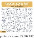 Doodle Icons Set - Under Construction. 29804187