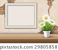 background with table frame and flower 29805858