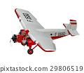 vector, cartoon, airplane 29806519