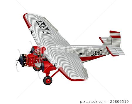 Cartoon Retro Airplane 29806519