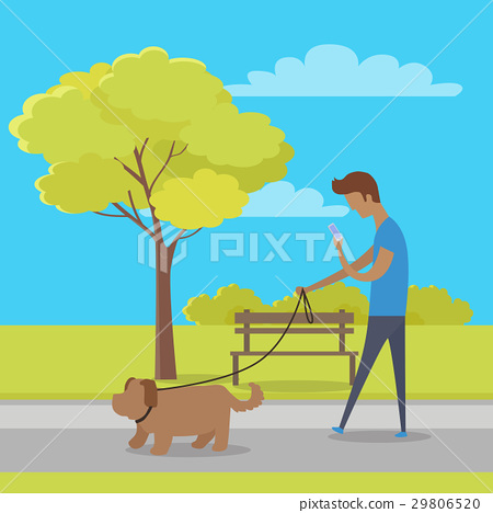 Leisure in City Park Flat Vector Concept 29806520