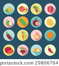 icon, set, vegetables 29806764
