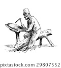 minter or coiner at work, old arabic man doing 29807552