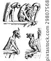 set of Gargoyles Chimera of Notre-Dame de Paris 29807568
