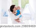 baby, mother, bedroom 29809469