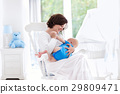 baby, mother, bedroom 29809471