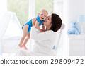 baby, mother, bedroom 29809472
