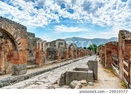 Street in Pompeii, Italy 29810577