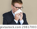 Business Man Sick Cry Tissue Paper 29817003
