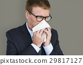 Business Man Sick Cry Tissue Paper 29817127