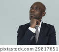 African Descent Man Thinking Concept 29817651