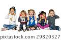 children friends headphones 29820327