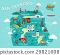 Map Of San Francisco Attractions Illustration. 29821008