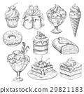 dessert, pastry, sketch 29821183