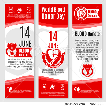 World Donor Day blood donation vector banners 29821222