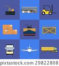 logistics shipment vector 29822808