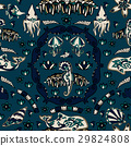 Vector seamless underwater pattern with fishes 29824808