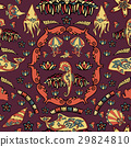 Vector seamless underwater pattern with fishes 29824810