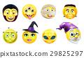 Halloween Emoticon Icon Set 29825297