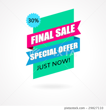Final Sale banner, poster background. 29827110