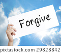 Forgive Sign on white paper. Man Hand Holding  29828842
