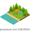 camping isometric view 29829920