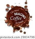 coffee illustration stain 29834796