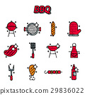 barbecue, grill, set 29836022
