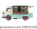 Food truck eatery, side view 29838108