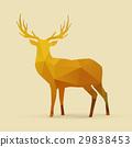 deer polygon golden silhouette 29838453