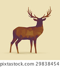 deer polygon orange purple silhouette 29838454