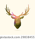 deer portrait color poly 29838455