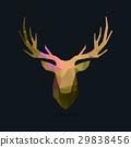 deer portrait invert color poly 29838456