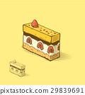 Cake, raspberry, vector 29839691