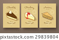sweet collection of cheese cakes and apple pie 29839804