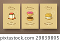 collection of cheese cake, donut and cream puffs 29839805
