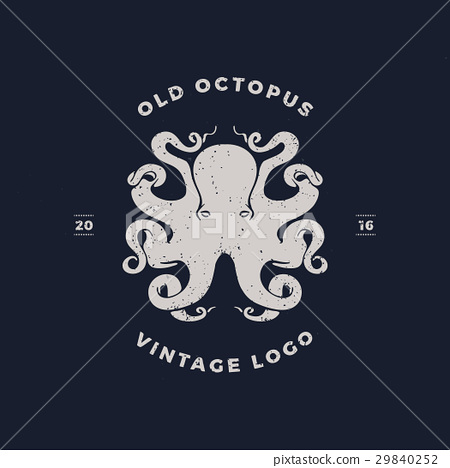 octopus silhouette logo invert 29840252