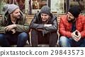 Adult Men Talk Sit Together Friends 29843573