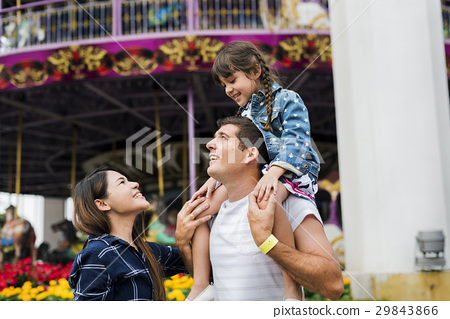 Family Holiday Vacation Amusement Park Togetherness 29843866