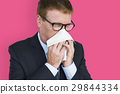 Business Man Sick Cry Tissue Paper 29844334