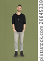 Caucasian Man Peaceful Standing 29845339
