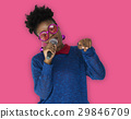 African Woman Vocal Singing Music Microphone 29846709