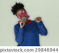 African Woman Vocal Singing Music Microphone 29846944
