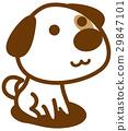 狗 狗狗 坐下 29847101