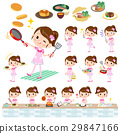 Pop idol in pink costume cooking 29847166