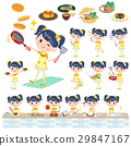 Pop idol in yellow costume cooking 29847167