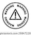 warning, vector, rubber 29847228